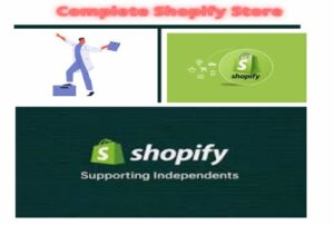 I will design a complete shopify website or dropshipping store